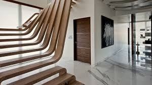 waves of wood form staircase by arquitectura en movimiento workshop