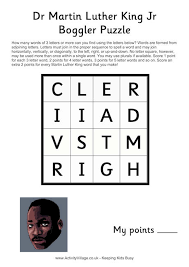 mlk day puzzles