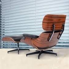 costway modern wood eames style lounge chair u0026 ottoman set
