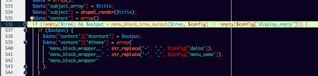 theme drupal menu block menu block is nor rendering the menu displays 1 for the content