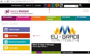bordeaux 3 bureau virtuel remise de devoir en ligne espace étudiant université bordeaux