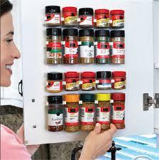 Kitchen Cabinet Door Storage Racks 4x Spice Jar Wall Rack Storage Organizer Kitchen Cabinet Door