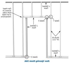 How To Frame A Door Opening How To Frame A Door Rough Opening With Metal Studs Galleryimage Co