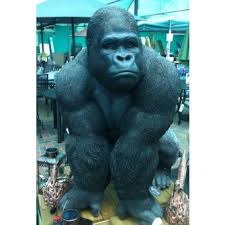 large gorilla real by arts ornaments statues