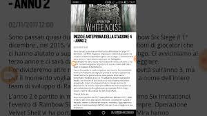 la nuova stagione operation white noise rainbow six siege