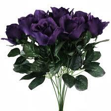 silk flowers for wedding 10 purple stems silk flower wedding reception table