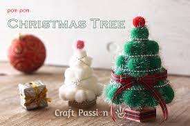 Homemade Pom Pom Decorations Pom Pom Christmas Tree Christmas Diy Craft Passion