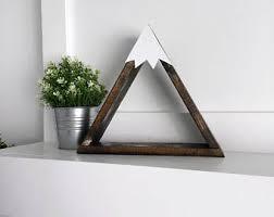 Triangle Shaped Bookcase Wood Shelves Etsy