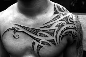 download tribal tattoo on chest danielhuscroft com