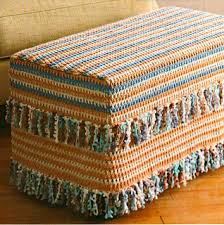 Crochet Ottoman Ravelry 16 Fringed Ottoman Cover Pattern By Jeannie Chin