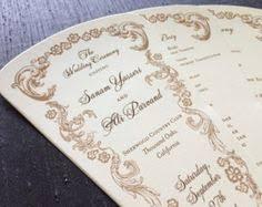 wedding fan program kits custom printed fans folding fans stick fans personalized