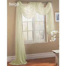 Valance Window Treatments by Beige Ivory Off White Scarf Sheer Voile Window Treatment Curtain