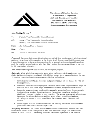 brilliant ideas of sample proposal letter for new position with