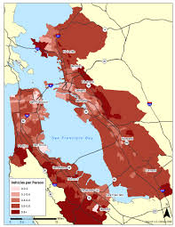 San Francisco County Map by Density Car Ownership And What It Means For The Future Of Los