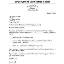 Proof Of Employment Template Employment Verification Letter Format For Us Visa Cover Letter