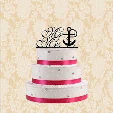 anchor wedding cake topper nautical cake topper mr and mrs anchor cake topper wedding