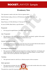 note free promissory note template