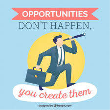 Quote About Inspirational Quote About The Opportunities Vector Free