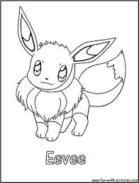 eevee pokemon coloring pages kids png eevee pokemon coloring pages