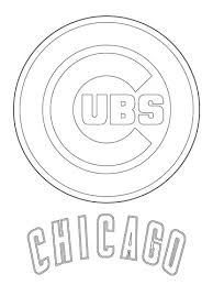 Chicago Cubs Coloring Pages chicago cubs logo coloring page free printable coloring pages