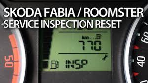 how to reset insp service reminder in skoda roomster u0026 fabia ii