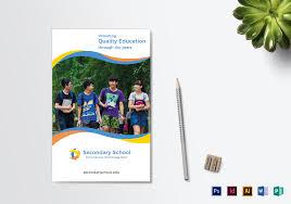 school brochure design templates school education bi fold brochure design template in psd word