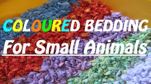 how to make coloured hamster bedding carefresh youtube