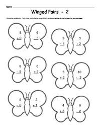butterfly math addition u0026 subtraction worksheets