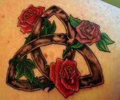 three roses u0026 triquetra u003c3 witchy tattoos pinterest