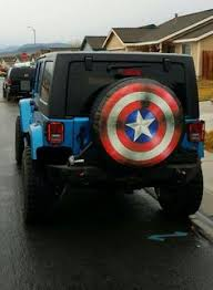 2005 jeep liberty spare tire cover 32 captain america style shield spare tire cover molded plastic