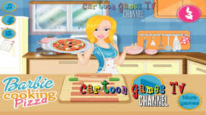 barbie cooking pizza kitchen games for girls youtube