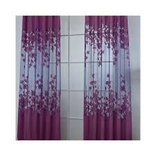 Magenta Curtain Panels Magideal Floral Window Curtains Panel Net Drape Balcony Office