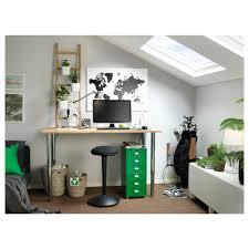 Beech Computer Desk by Gerton Table Beech Chrome Plated 155x75 Cm Ikea