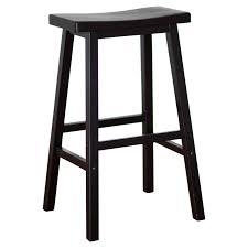 Bar Stools San Antonio Winsome Wood 29 Inch Rta Single Saddle Seat Bar Stool Black