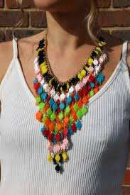 coloured statement necklace images Multi coloured statement necklace nelly rhey JPG