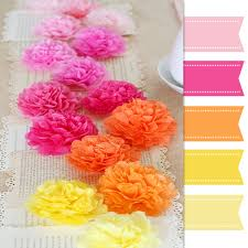 Flower Table Pretty Palette Paper Flowers Table Runner One Charming Day