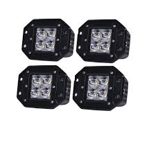 flush mount led lights 12v honzdda 4pcs flush mount led light 12v white amber led fog light 9