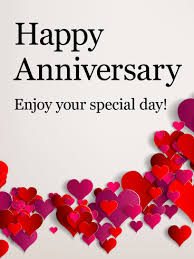 enjoy your special day happy anniversary card pink and cut