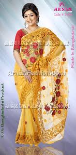 bangladeshi fashion house online shopping yellow jamdani bangladeshi yellow jamdani arnimgift yellow