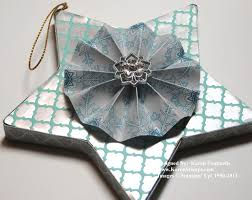 make a paper mache star christmas ornament stamping with karen