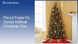 pre lit fraser fir corner artificial christmas tree youtube