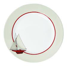 assiette de porcelaine novastyl 7440000 voilier assiettes porcelaine blanc décor
