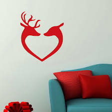 online buy wholesale fun wall stickers from china fun wall wall decal reindeer heads christmas decals xmas stickers xmas baubles christmas wall stickers fun