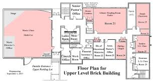 Floor Plan For Classroom Planned Repurposing Of Existing Space Swansboro United Methodist