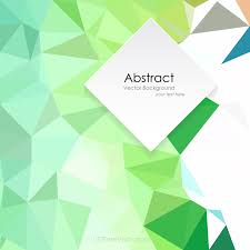 green abstract polygonal background template 123freevectors