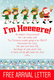 printable elf on the shelf arrival letter free printable elf on the shelf arrival letter i think we could be