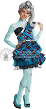 frankie stein wig monster high girls fancy dress kids halloween