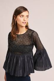 Black Blouses For Work Blouses Lace U0026 Embroidered Anthropologie