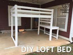 Plans For Building A Loft Bed With Storage by Diy Loft Bed Plans By Ana White Handmade With Ashley