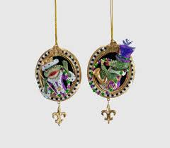 mardi gras ornaments katherine s collection framed gator or frog mardi gras ornament
